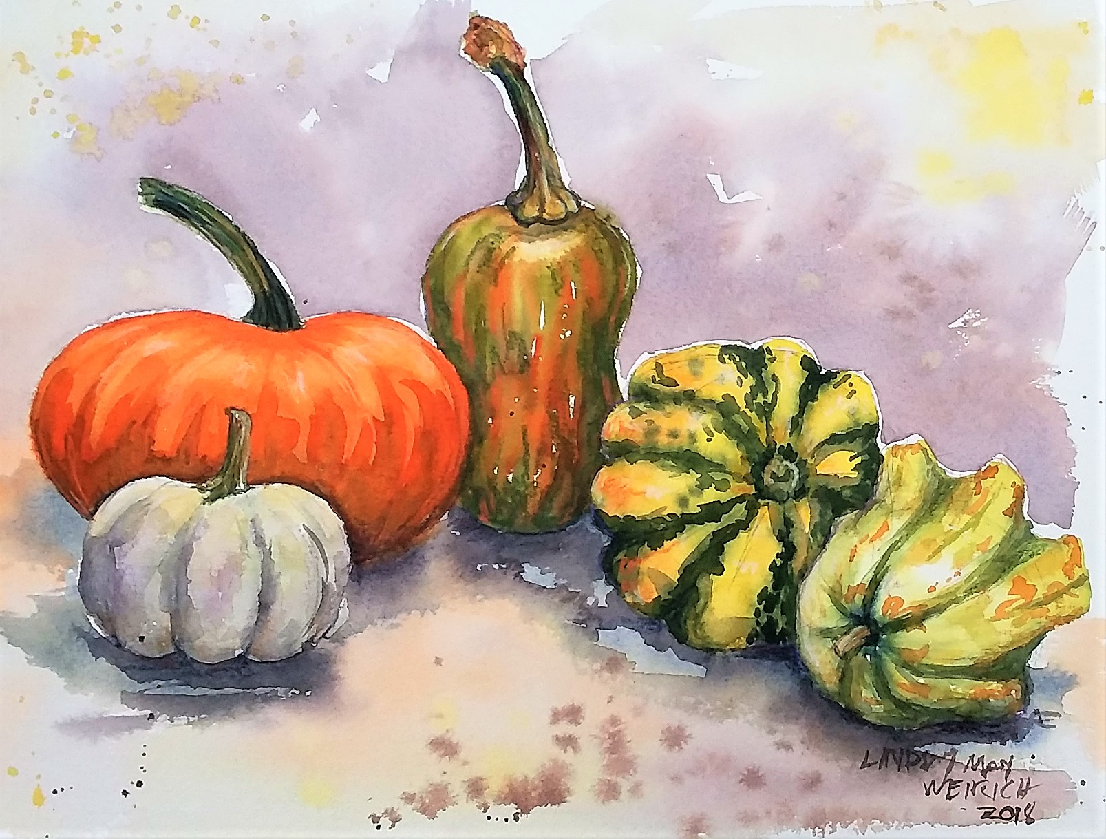 Gourds: Wet in Wet Technique (beginner tutorial)