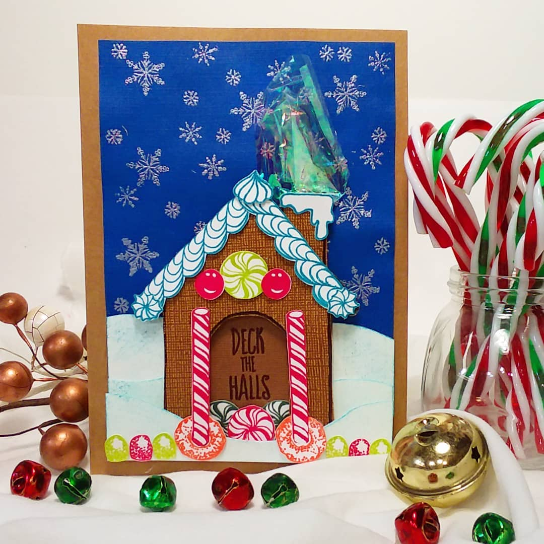 Build a Gingerbread House Card {and the joy found in a scrap of mylar!)