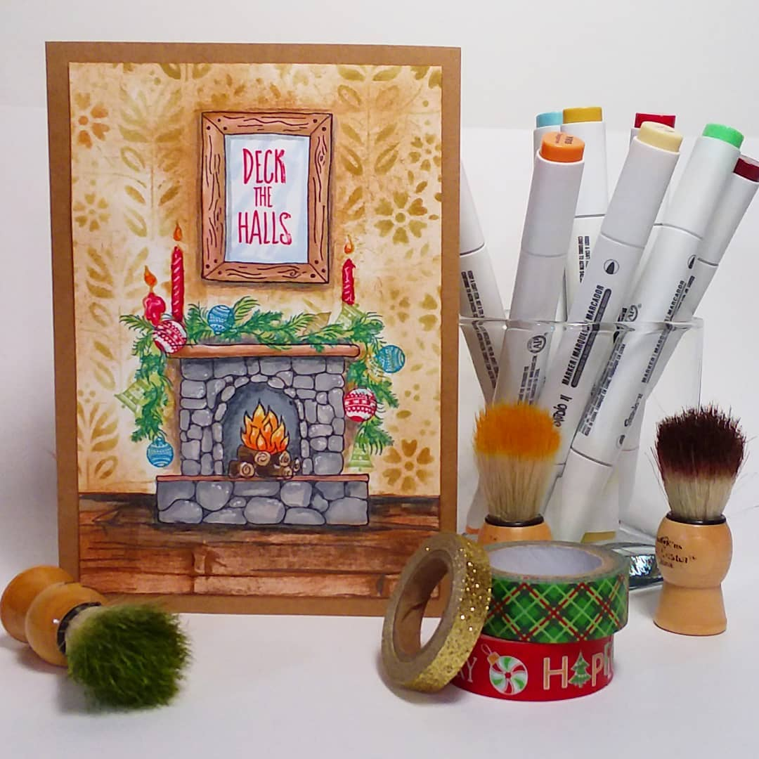 Easy Scene Building with my NEW Clear Stamp Set from Rubber Stamp Tapestry!