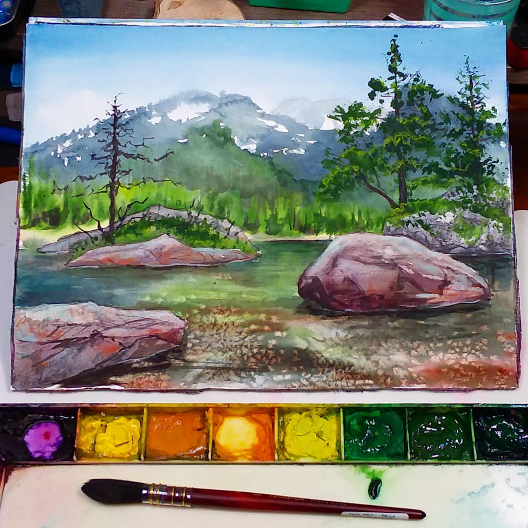 Let's Paint a Serene Landscape in Watercolors!