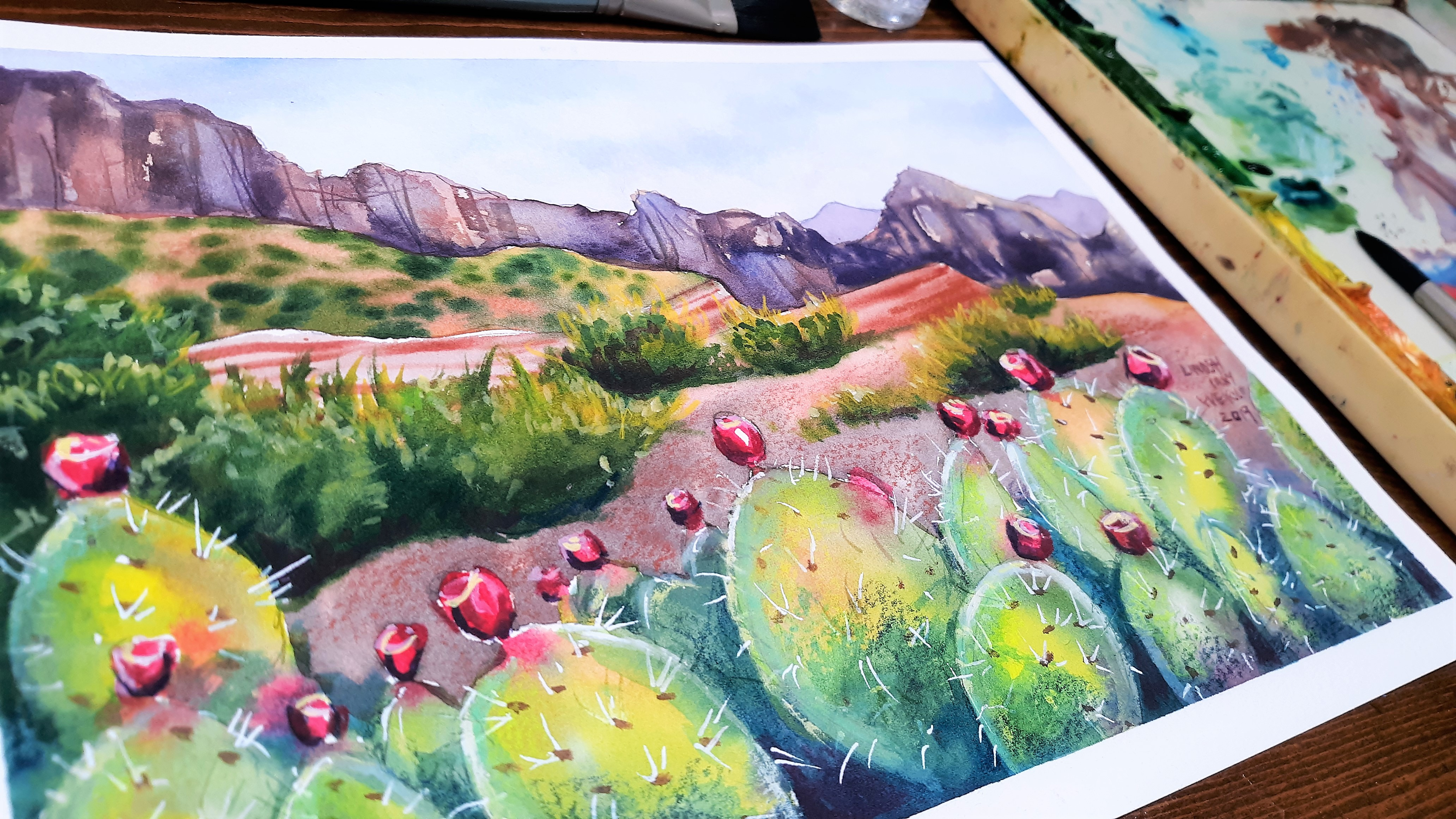 Chat with me LIVE at 5pm and Paint a Pretty Landscape!